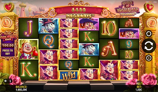 Main Gratis Slot Indonesia - Queen of Wonderland Megaways iSoftbet