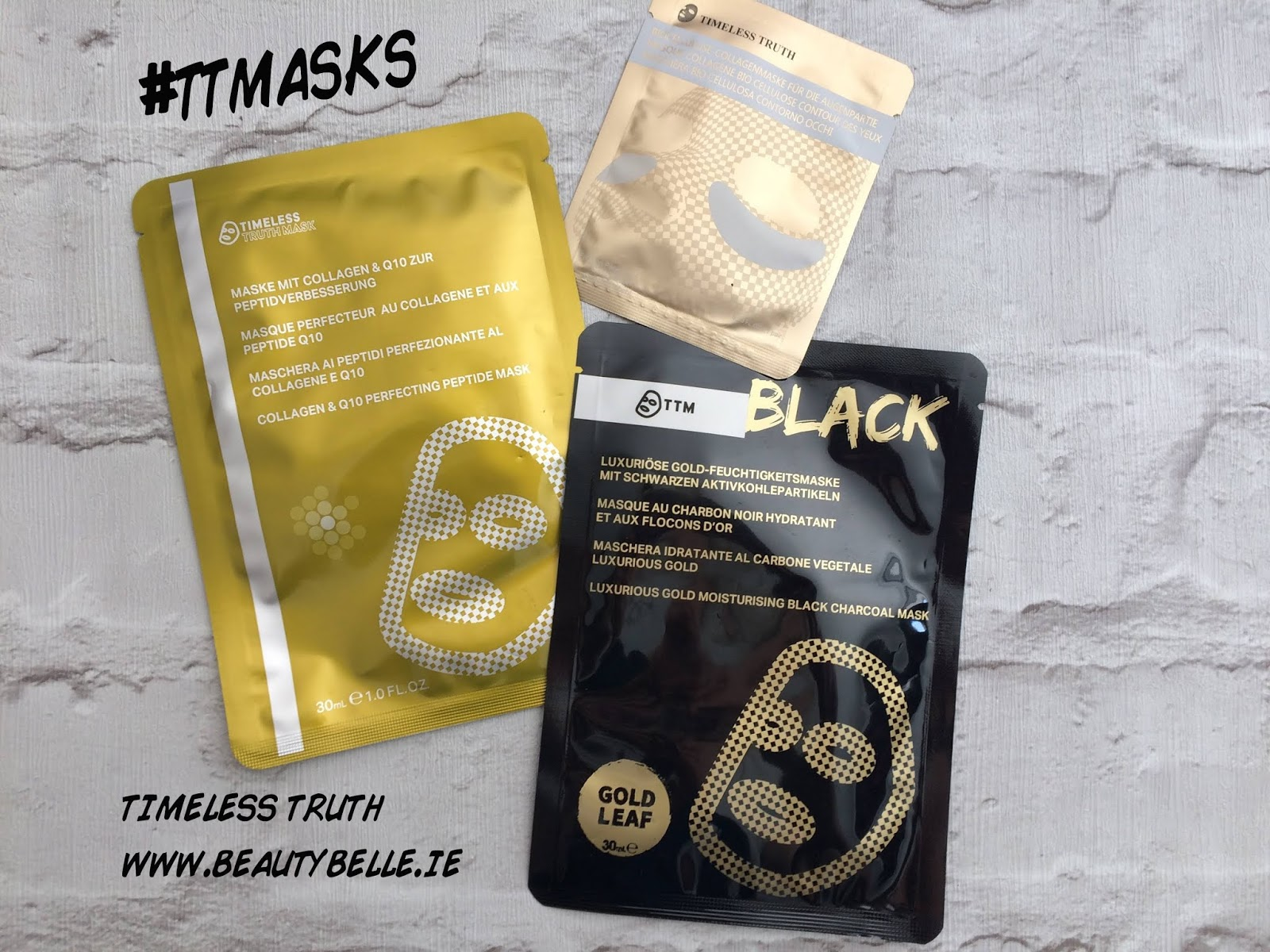 Timeless Truth Sheet masks