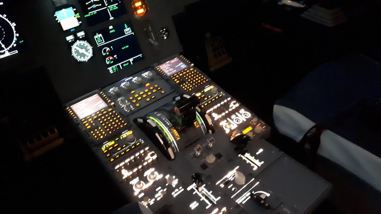 Aux commande de l'A320 chez Aviasim Lyon