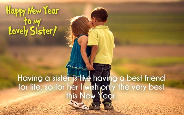 happy newyear sister greeting