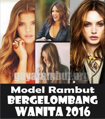 Model dan gaya rambut bergelombang bagi wanita di 2016_98324577