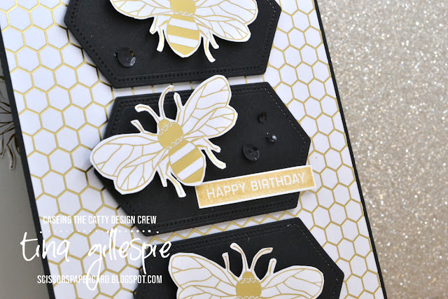 scissorspapercard, Stampin' Up!, CASEing The Catty, Label Me Bold, Sending You Thoughts, Golden Honey SDSP, Stitched Nested Labels Dies, Sale-A-Bration
