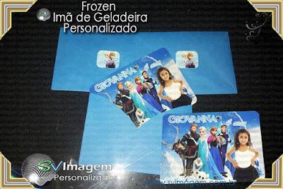 #svimagem #frozen #imã #geladeira #infantil #personalizado