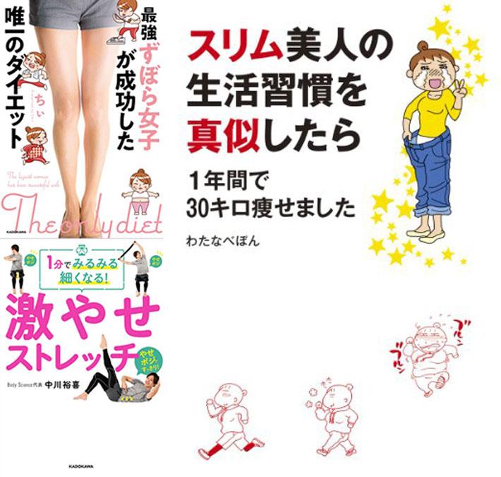 【ダイエット】KADOKAWA 夏までに痩せる! 自宅でできる ダイエット&筋トレ本フェア(4/22まで)