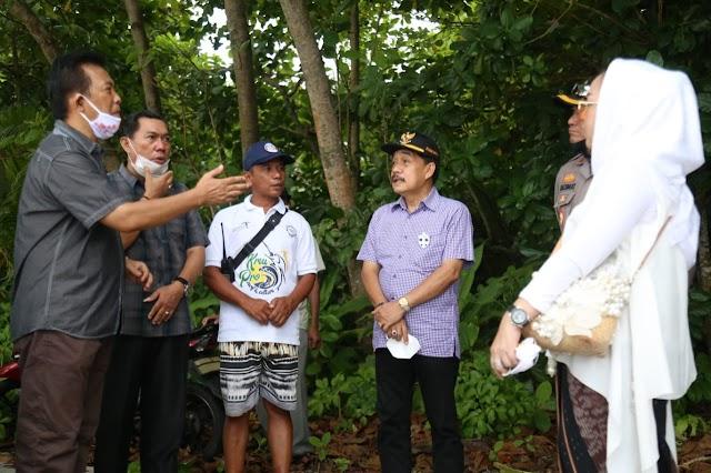 Pjs. Bupati Pesibar Bersama Jajaran Forkopimda Kunjungi Pulau Pisang