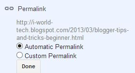 automatic permalink