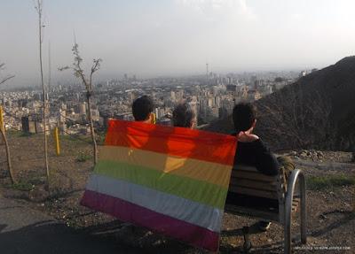 Clandestine gay pride in Tehran, Iran.