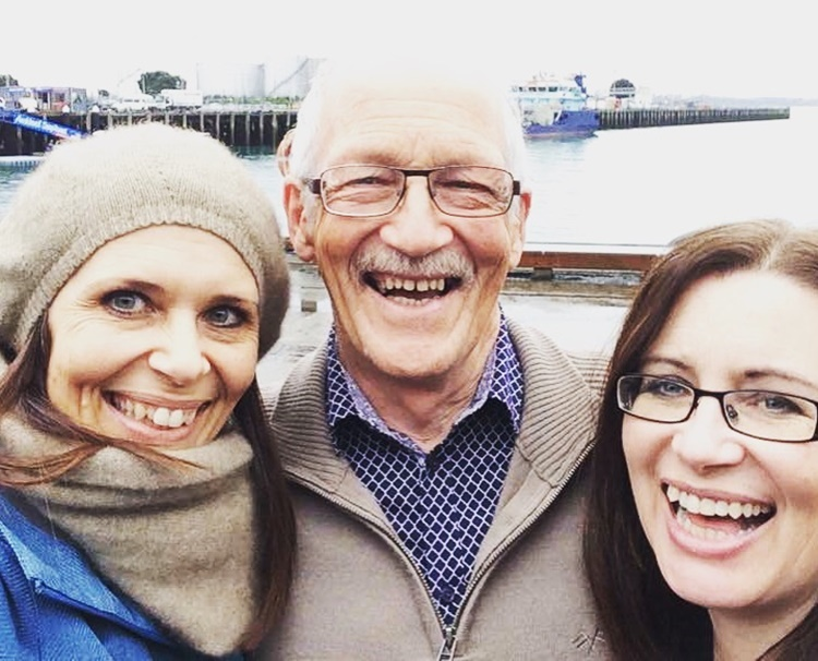 Me, my sis and our lovely Dad (who just turned 70)