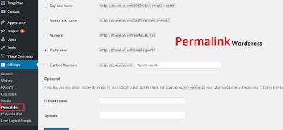 lỗi permalink trong wordpress