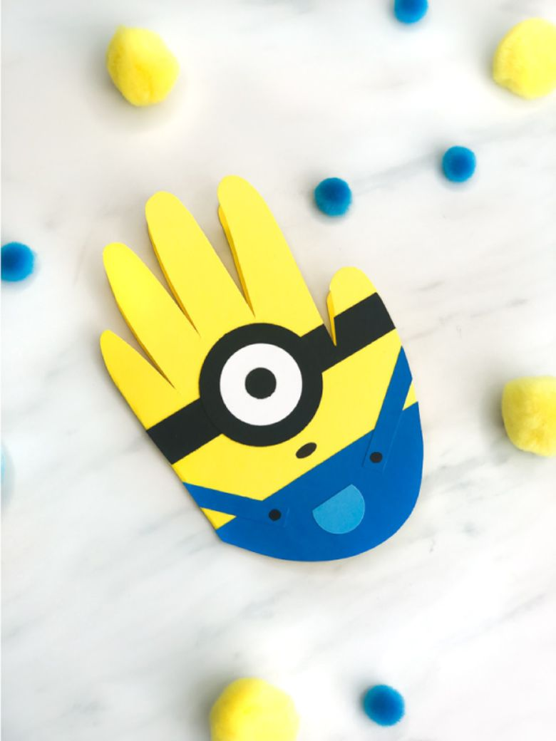 Handprint Minion Father's Day Card