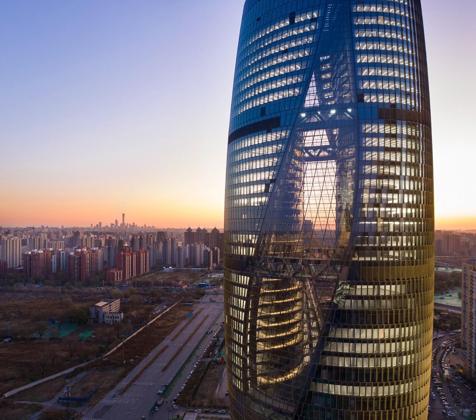Hình chụp toàn cảnh ấn tượng của Leeza Soho Tower