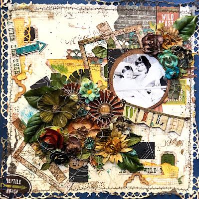 Wild layout by Lisa Novogrodski using BoBunny papers