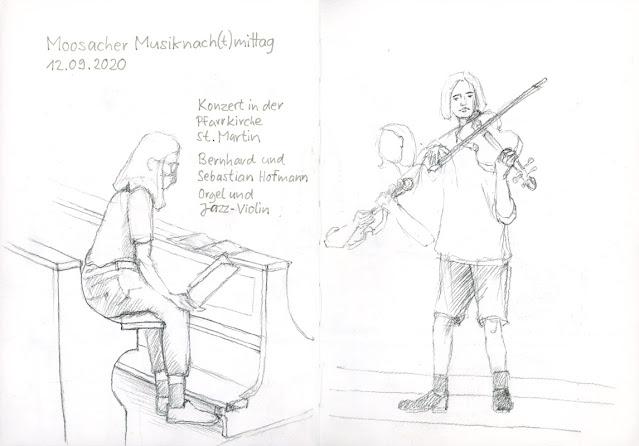 Bernhard (Orgel) und Sebastian Hofmann (Jazz-Violin)