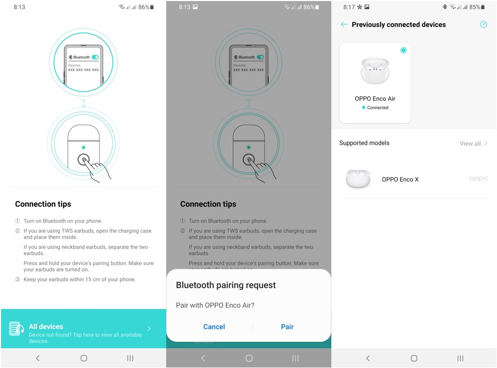 OPPO Enco Air (W32) Pairing with HeyMelody App