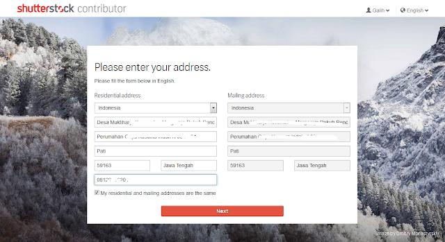 isi data diri kalian sesuai email