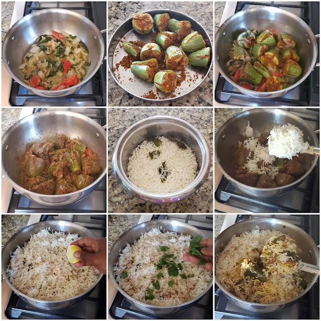 images of Baingan Biryani Recipe / Brinjal Biryani / Guthi Vankaya Biryani / Vankaya Biriyani Recipe