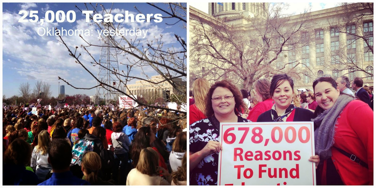 Teachers at the State Courthouse