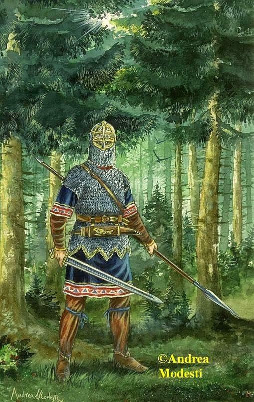 Andrea Modesti Art Norse Warriors Vendel Age 7th Century Ad