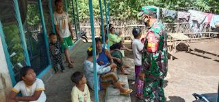 Kopda Anton Simamora, Babinsa Tigasan Wetan Pastikan Stabilitas Desa Binaan Melalui Komsos
