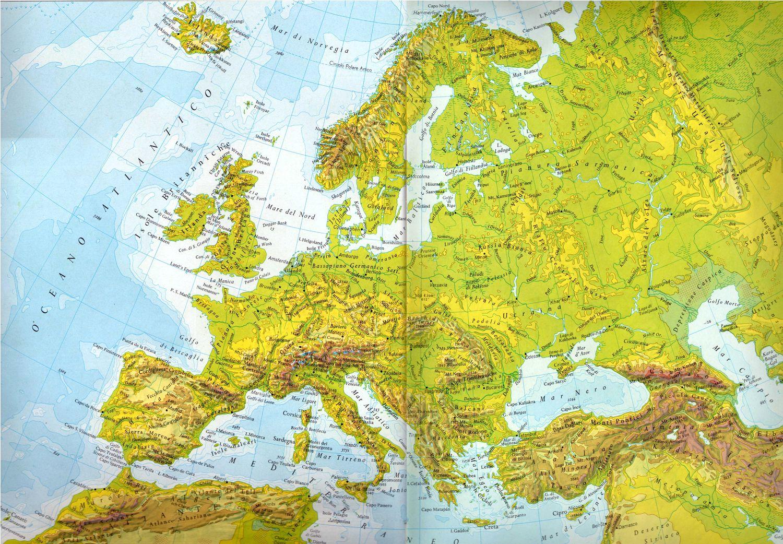 Cartina Europa Da Stampare Formato A4.Carta Muta Europa Formato A4