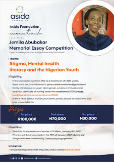 Jemila Abubakar Memorial Essay Competition 2020/2021