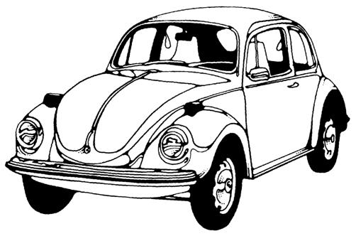 Desenho De Fusca: Desenhos De Caminhonete E Fusca Desenhos Preto E Branco
