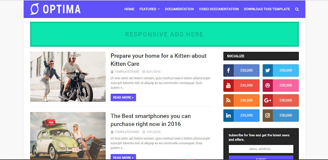 Optima Seo Ready Blogger Template