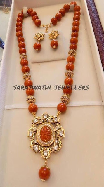 Long Coral Beads Sets