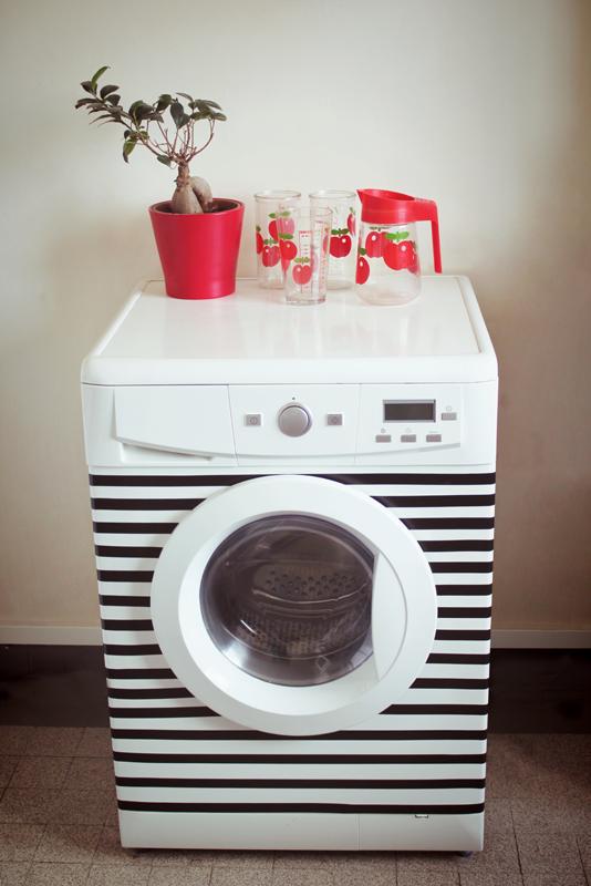 le chat plumes diy une machine laver look e. Black Bedroom Furniture Sets. Home Design Ideas