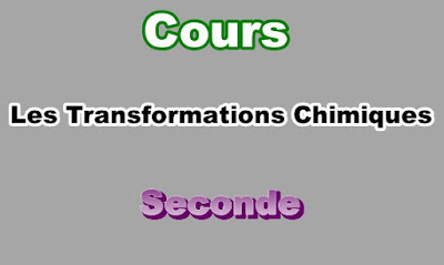 Cours de Transformations Chimiques Seconde PDF