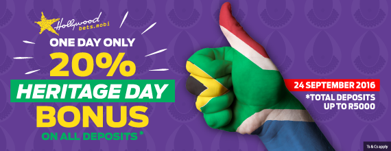 Hollywoodbets-20%-Heritage-Day-Bonus-Promotion