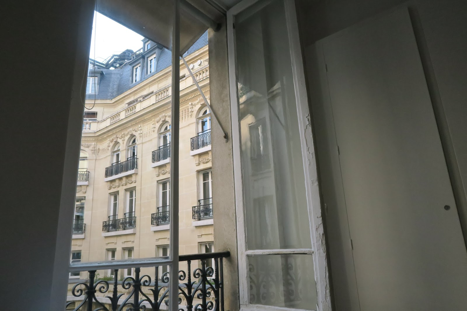 View from the balcony of a Parisian apartment from our trip to Paris