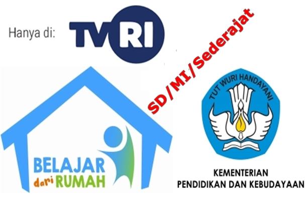 Panduan Membimbing Anak Belajar dari Rumah di TVRI Tanggal 20, 21, 22, 23, dan 24 April 2020 untuk Orang Tua Siswa Kelas 1-2-3-4-5-6 SD-MI-Sederajat