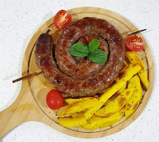 """Alt=""""Boerewors and wedges/sausage and Potatoes"""""""