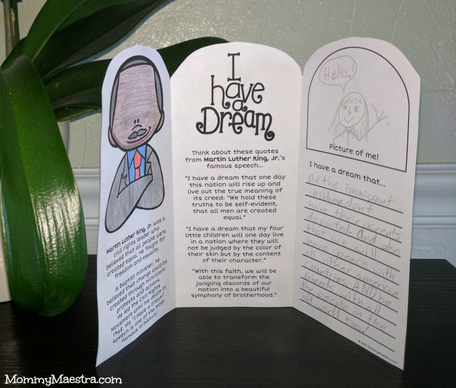 Printable Activities for Martin Luther King, Jr Day