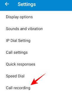 call recording par click kare