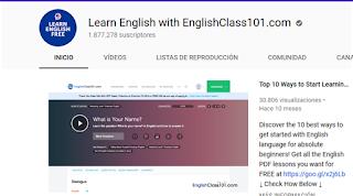 https://www.youtube.com/user/ENGLISHCLASS101