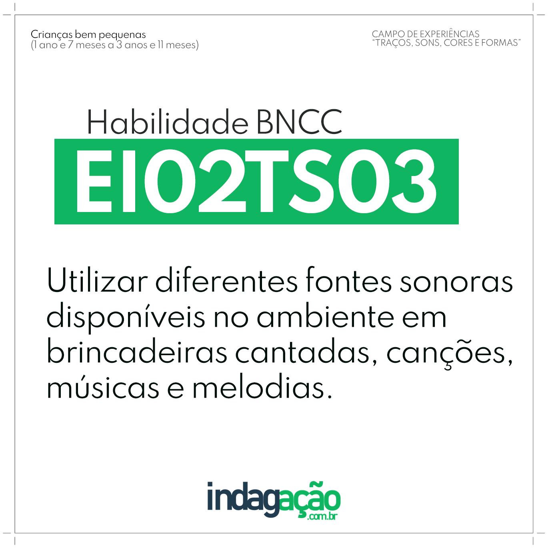 Habilidade EI02TS03 BNCC