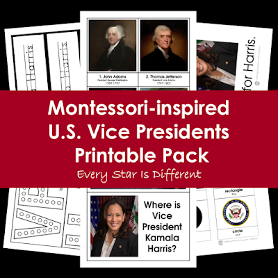 Montessori-inspired U.S. Vice Presidents Printable Pack