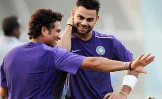 Virat Kohli and Sachin Tendulkar having some fun