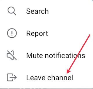 Telegram Channel Se Leave Kaise Kare