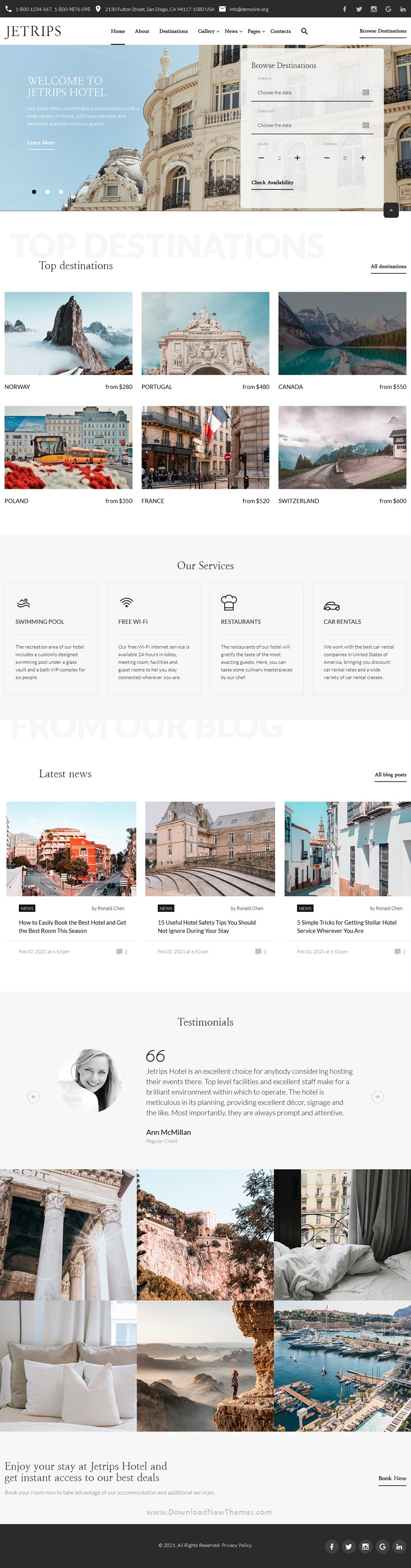Responsive Travel and Hotels Template