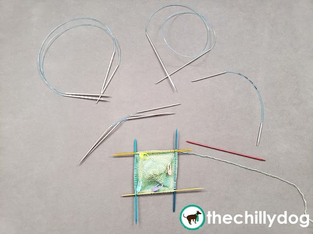 5 types of needles for small circumference knitting