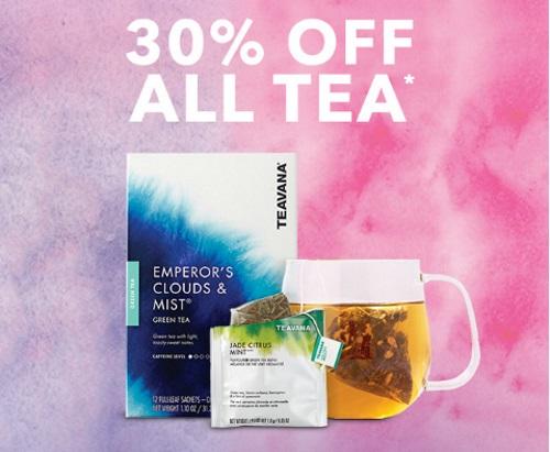 Starbucks Store 30% Off All Teavana and Tazo Tea Sale