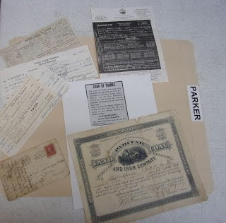 Vertical Files Contents in Archive
