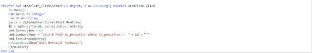 delete - Membua Aplikasi Registrasi Siswa Gres Dengan Visual Studio 2012