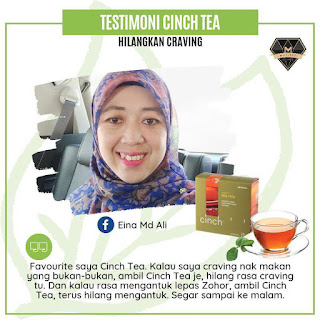 Testimoni Cinch® Tea Mix shaklee kurang craving dan selera makan