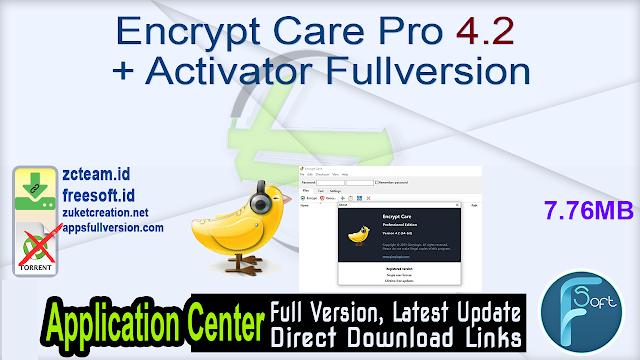 Encrypt Care Pro 4.2 + Activator Fullversion