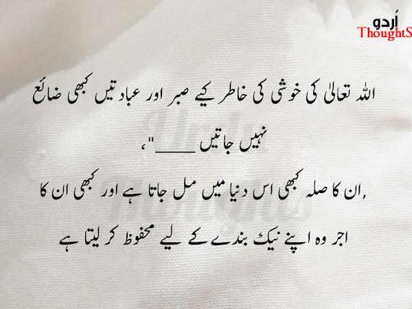 Short Urdu Islamic Quotes  - ALLAH TALA ki Khushi
