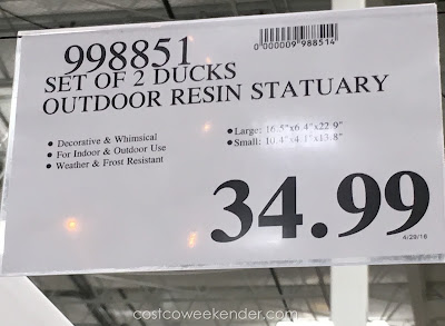 Costco 998851 - Deal for the set of 2 Resin Ducks at Costco